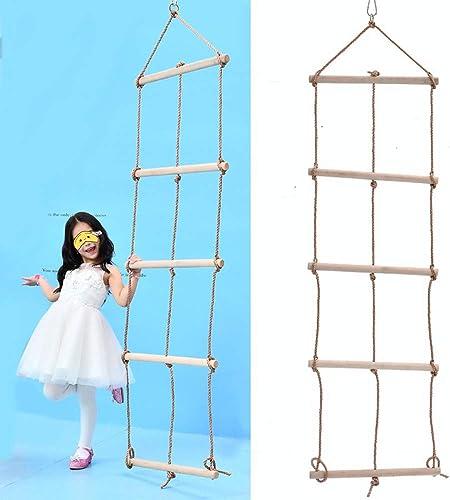 Descuento del 70% barato MALY Escalera de Cuerda, Trapecio de de de Madera y Columpio Escalera de Cuerda Gigante 5 Capas y 3 Cuerdas Escalera de Escalada 2.1M Alto Columpio de Niños al Aire Libre para la Escalada Casa en el árbol  hermoso