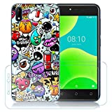 kaliter Coque Wiko Y50/Wiko Sunny 4,Modèle 438 Doux TPU Gel Silicone Smartphone Protecteur...