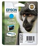 Epson Cartucho De Tinta T0892 Cyan 3,5 Ml válido para los modelos Stylus y Stylus Office SX415, SX410, SX405, SX400, SX218, S21, BX300F y otros, Ya disponible en Amazon Dash Replenishment