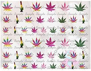 46 Marijuana Pot Nail Art Decals