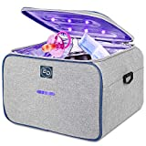 Large Capacity Foldable and Portable Travel Bag LED Cleaner Box for Masks/ Phone /Toothbrush/Beauty Tools/Jewelry/Underwear 99.9% Cleaned in just 3 mins