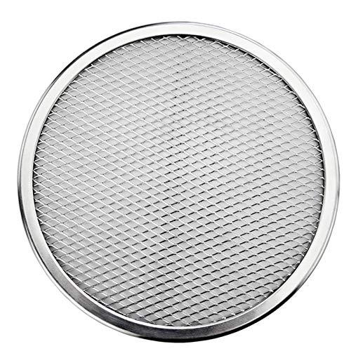 JINBAO Pantalla de Pizza de Aluminio de Calidad de Restaurante de 14 Pulgadas, Pantalla de Pizza Redonda Transparente, para Suministros de Restaurante para Cocina.