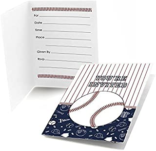 Big Dot of Happiness Batter Up - Baseball - Fill in Baby Shower or Birthday Party Invitations (8 Count)