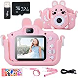 Kids Camera with Case, Hangrui Kids Digital Camera 20 MP Rechargeable Kids Camera