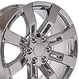 OE Wheels LLC 20 Inch Fits Chevy Silverado Tahoe GMC Sierra Yukon Cadillac Escalade CV82 Chrome 20x8.5 Rim Hollander 5409
