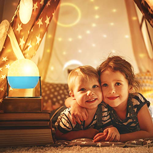Proyector Estrellas Lámpara De Dormir,Luz de Nocturna Infantil ...
