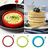 delleu Silikon Egg Inlay Pancake frühstücksbrote–Benedikt Eier, Omeletts und mehr...