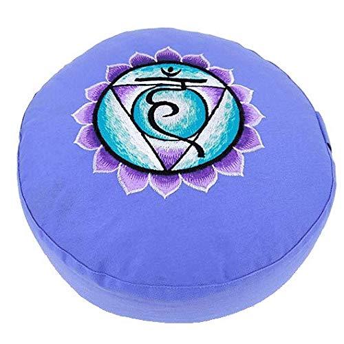 ManiBhadra Meditationskissen: Chakra 5, Vishuddha blau