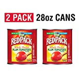 Redpack Whole Peeled Plum Tomatoes in Puree, 28oz Cans (Pack of 2)