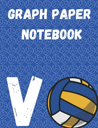 """V Graph Paper Notebook: Monogram Initial Letter Name Volleyball Journal/Notebook Volleyball script, personalized Volleyball gift ,Darts player\'s ... .gift, 120 page8.5\"""" x 11\"""" lined notebook"""