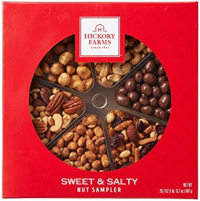 Hickory Farms Sweet Salty Nut Sampler Great for Snacking Gifting Food Care Packages Parties product image