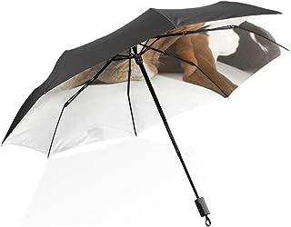 XiangHeFu Umbrella Sleeping Dog Basset Hound 3 Folds Lightweight Anti-UV