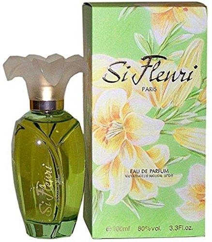 Lomani Si Fleuri Eau de Parfum - 100 ml (For Men) the patchouli, sandalwood and moss highlight the freshness of floral notes