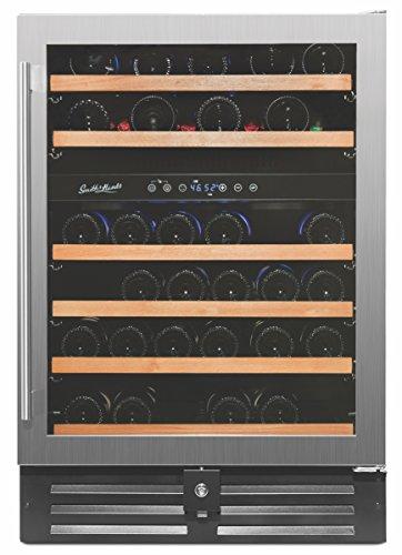 Smith & Hanks 46 Bottle Dual Zone Wine Refrigerator, Stainless Steel Door,...