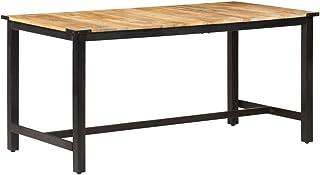 vidaXL Bois de Manguier Solide Table de Salle à Manger Table de Cuisine Table à Dîner Table de Repas Meuble à Manger Maiso...