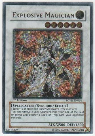 Yu-Gi-Oh! - Explosive Magician (SOVR-EN044) - Stardust Overdrive - Unlimited Edition - Ultimate Rare