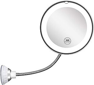 Espejo de Maquillaje con LED Espejo Cosm/ético Pantalla T/áctil de Mesa Mano Espejo Tocador para Mesa Dormitorio Espejo Maquillaje con Luz viajes Belleza Natural Iluminado Espejo de Mesa Luz Ba/ño