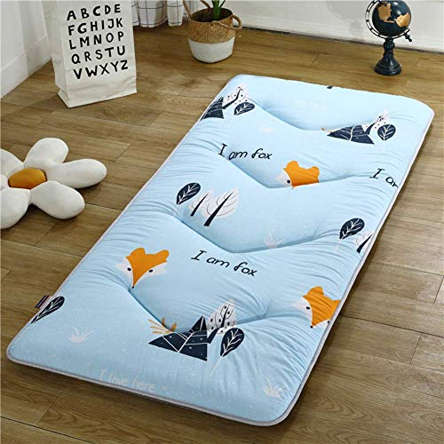 DJQ Thickened Tatami Mattress Japanese Mat Breathable Quilted Mat Soft Folding Futon Mattress Non-slip Mattress Topper J 180x200cm (71x79 inch)