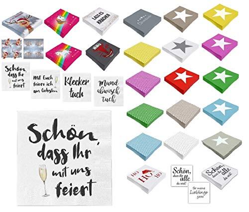 Unbekannt Papier Servietten 3 lagig 33 x 33 cm (100, Feier mit Uns)