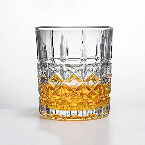 LIUHUI Vasos de Whisky de Cristal Vaso Antiguo