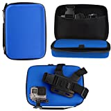Navitech Blue Heavy Duty Rugged Hard Case/Cover Compatible With The <span class='highlight'><span class='highlight'>GreatCool</span></span> 4K ActionCamera