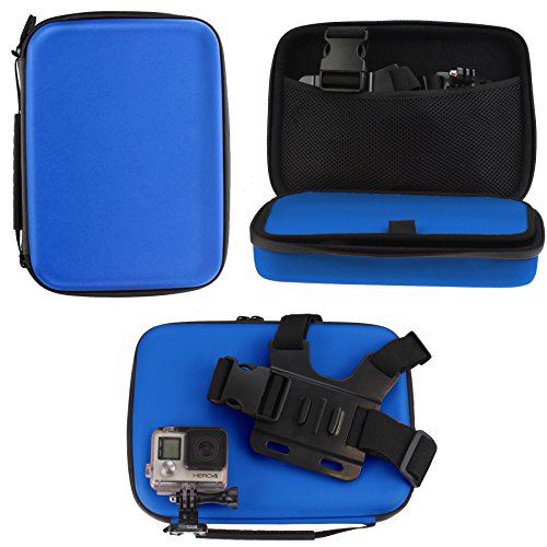 Navitech Blue Heavy Duty Rugged Hard Case/Cover Compatible With The APEMAN C 4K WiFi Ultra HD Action Camera
