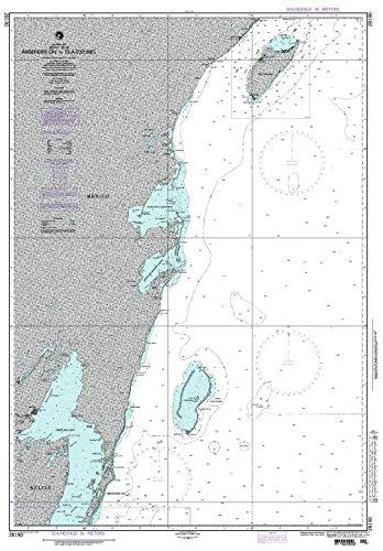 NGA Chart 28190: Ambergris Cay to Isla Cozumel (Traditional Paper) 32 x 46
