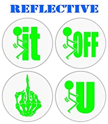 F-it reflective stickers for welding helmet or hardhat