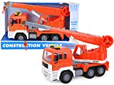 TOYLAND® - Camión grúa de 30 cm con luz y Sonido - Vehículos de Juguete para niños