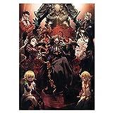 Fat Bear Anime Overlord Decor Poster Painting Wall Poster Decoración para el hogar(MC-S)