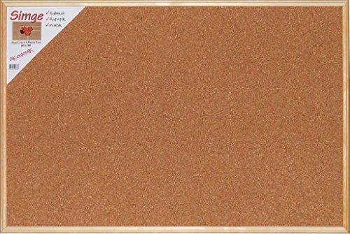 Premium Kork Pinnwand für Büro, Schule, Küche etc. mit minimalistischem Naturholzrahmen in 60cm x 45cm