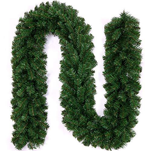 Xinlie Guirnaldas de Oropel Decoraciones Navideñas Guirnalda de Pino Artificial Guirnalda de Navidad para Decorativas árbol Navidad Boda Partido Espumillón Guirnalda Adornos de Navidad 2.7m (1 PCS)
