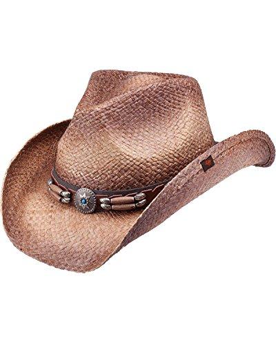 Peter Grimm Ltd Unisex Contraband Straw Cowboy Hat Brown One Size