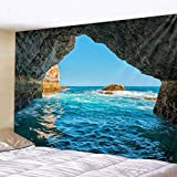 nobranded Bleu mer Tapisserie Paysage Naturel Tapisserie Home Decor Toile de Fond Yoga Pique-Nique Tapis Dortoir Home Decor Tenture Murale