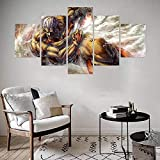 QQWER HD Impreso Modern Lienzo Pintura Arte Pared 5 Pinturas Salón Hogar Decoraciónanime Gigante Modular Poster Sin Marco Pictures Decor