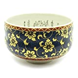 Japanese Matcha Bowl Gold Clematis Kutani Yaki(ware)