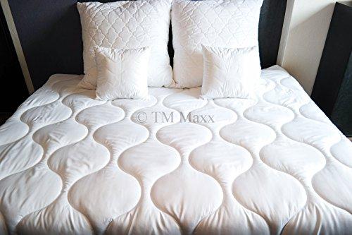 TM Maxx Bettdecke Decke Steppbett Bettwaren Microfaser Soft Dream von Wendre • Auswahl aus 4 Größen und 4 Ausführungen • Weiß (Monodecke/Ganzjahresdecke, 200x200cm)