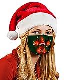 Gugavivid 1/5 Stück Mundschutz mit Weihnachten LED Licht,Weihnachten Weihnachtsmotiv Druck Wiederverwendbar Multifunktionstuch Staubdicht Kopftuch Bandana Festival Cosplay Weihnachts Halstuch Schals