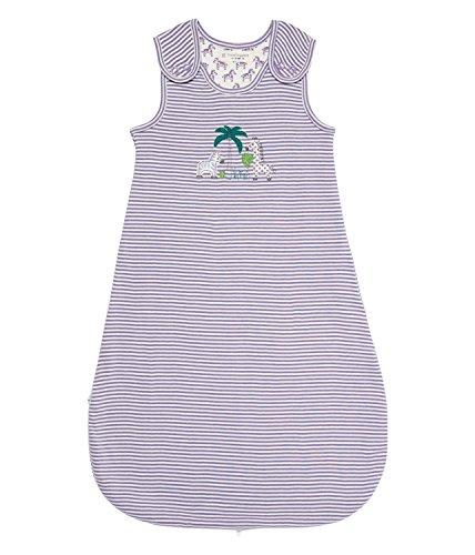 Sense Organics YMER slaapzak voor baby's, gestreept, maat 74 (grootte fabrikant: 70), meerkleurig (dusty mauve str + Zebra AOP 196000)