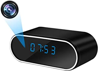 【最新版】隠しカメラ 置き時計型カメラ WiFi 小型カメラ 時計 スパイカメラ 1080P高画質 WiFi対応 防犯監視カメラ 暗視機能 動体検知 リアルタイム遠隔監視 IOS/Android対応 遠隔操作 長時間録画 日本語取扱説明書付