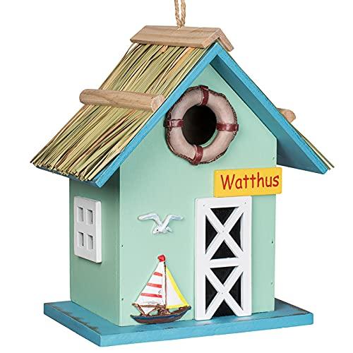 Gardigo Nistkasten Watthus aus FSC Holz | Dekoratives Vogelhaus, Nistkasten, Nisthöhle zum aufhängen | Vogelhäuschen für Garten, Balkon, Terrasse