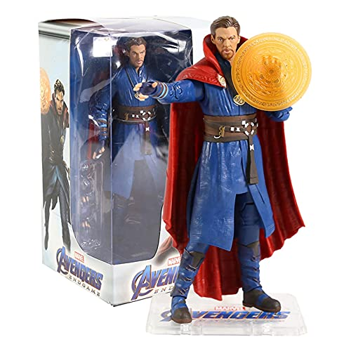 JSJJAUA Figura de acción Hombre de Acero MK85 MK49 Doctor extraño Thor Capitán América 7'Figura de acción de Juguete muñeca (Color : Doctor Strange Box)