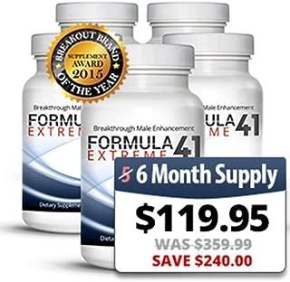 Formula 41 Extreme 6-Month Supply - 100% Genuine - Official Distributor of Formula 41 Extreme, Male Enhancement Testosterone Booster Natural Performance Enhancer Libido Enhancer