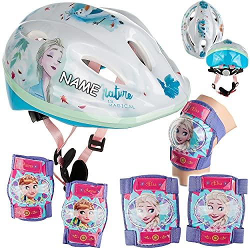 alles-meine.de GmbH 5 TLG. Set: - Sicherheitsset - Kinderhelm / Fahrradhelm - Disney die Eiskönigin - Frozen - Gr. 52 - 56 - Circa 3 bis 15 Jahre - Größen verstellbar / mitwachse..