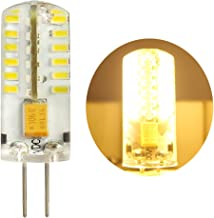 1 stuk G4 LED 4 Watt warm wit 3000 K niet dimbaar 12 V AC/DC wisselspanning met 48 x 3014 SMD's 360° penfitting