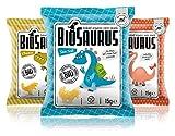 Biosaurus Baked Organic Corn Snack für Kinder - 40x15g (Mix Box) - Gebackener knusprige Bio-Snack aus Mais, Nicht Frittiert | Low Fat, Glutenfrei, BIO, keine Chemie | - 40x15g (Mix Box)