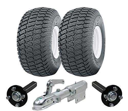 Parnells Muy Resistente Atv Remolque Quad Kit 900kg Wheels Cubo & Manguetas Giratorio Enganche