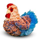 Henrietta is our glamorous Blue Lace Hen stuffed animal. Bright blues and oranges enliven her design and specialty plush materials mimic the appearance of plumage. Quality polyester fill gives her a huggable body that is irresistibly soft. This color...
