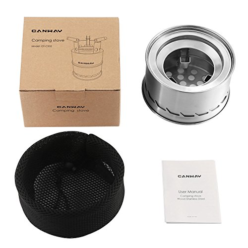 Product Image 8: CANWAY Camping Stove, Wood Stove/Backpacking Stove,Portable Stainless Steel Wood Burning Stove with Nylon Carry Bag for Outdoor Backpacking Hiking Traveling Picnic BBQ