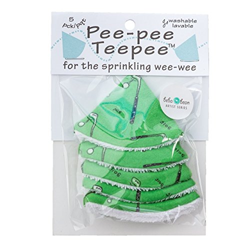 Beba Bean Pee-pee Teepee Golf Green - Cello Bag, 5 Golf Teepees